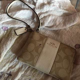 Authentic Coach Beige Purse/wallet