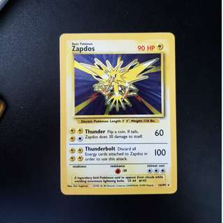 Pokemon card ZAPDOS 16/102 RARE HOLO
