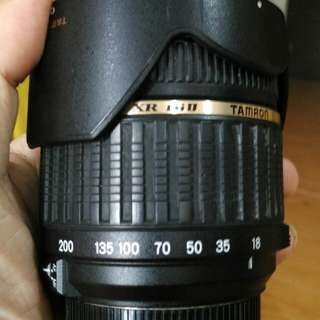 Tamron 18-200 mm len for Nikon mount.