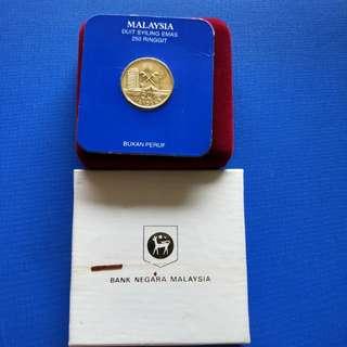 Malaysia $250 gold coin 1987