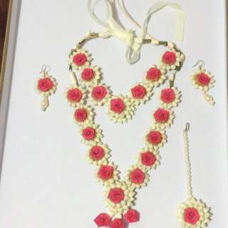 Hot pink flower set