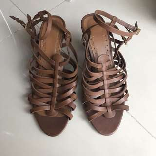 Zara Strappy Sandals Brown size 40