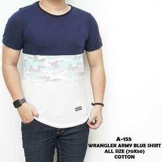 Wrangler army blue shirt