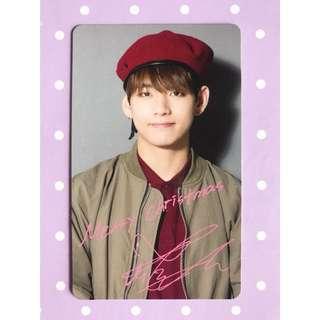 BTS 'I Need U' Christmas Edition V Photocard