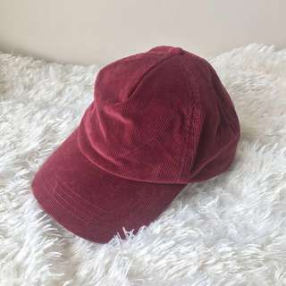 Silence + Noise Maroon Red Corduroy Baseball Cap UO Urban Outfitters