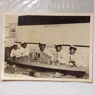 Vintage Old Photo - Old 1954 Black & White Photograph (20 by 16cm) Taiwan Chiang Kai Shek's Sailors (Please Read description in 3rd photo)
