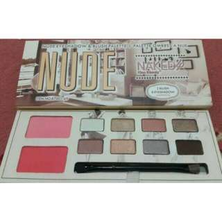 Nude eyeshadow and blush palette naked 4