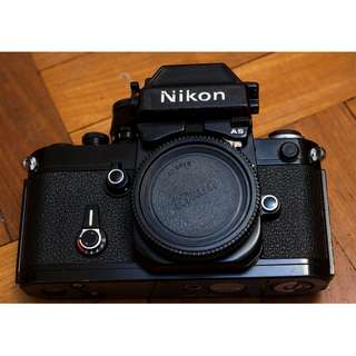 Black Nikon F2AS (film camera)