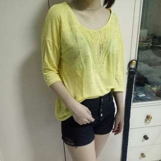 Yellow t-shirt mango auth
