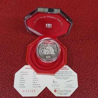 Sliver Piedfort Proof Coin1998 (2 oz)$10