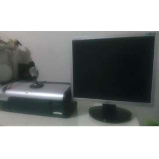 LG Monitor and HP Printer with FREE WEBCAM