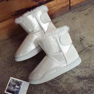 Women Winter Warm Boots 冬季2018新款韩版平底加绒雪地靴保暖女短靴