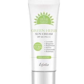 Esfolio Authentic sun cream green herb