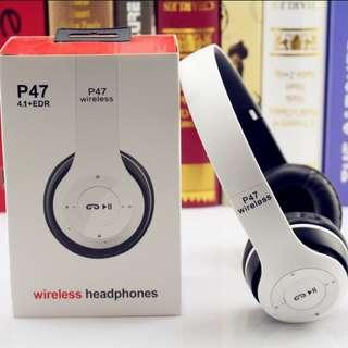 [In Stock] Wireless Bluetooth Headphones (Black/White)