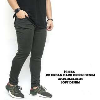 Pb urban dark green denim