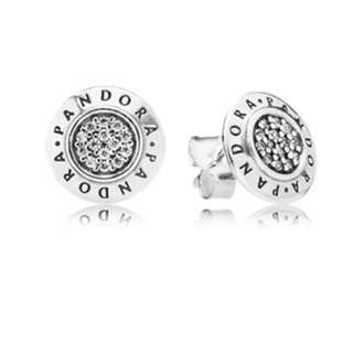 PANDORA Signature Stud Earrings