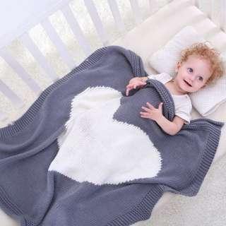 Baby Blankets Heart Pattern