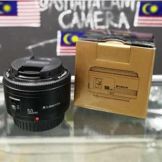 New YN 50mm F/1.8C Lens For Canon DSLR Camera