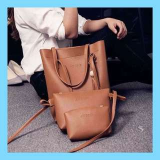 3 In 1 Korean Leather Bag