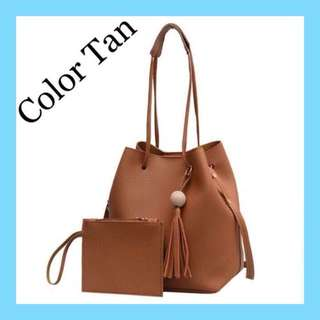 2 In 1 Korean Leather Bag