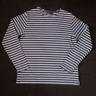 Authentic Fred Perry Crew Neck Striped Shirt