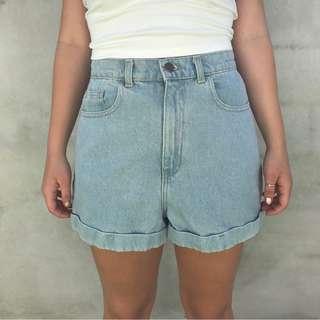 Never worn - American Apparel Denim Shorts