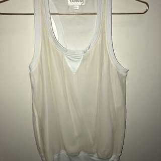 White Racerback Top