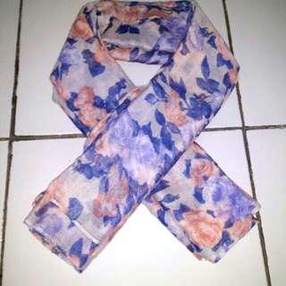 Scarf magnolia & pashmina