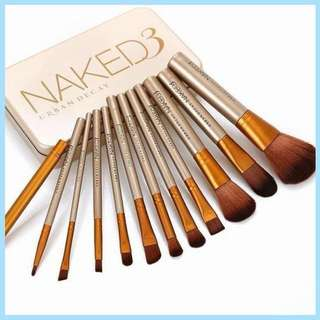 Naked 3 Makeup Brush Set 12's