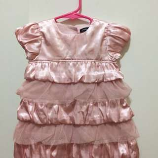 Baby Gap USA girls pink dress soft pink