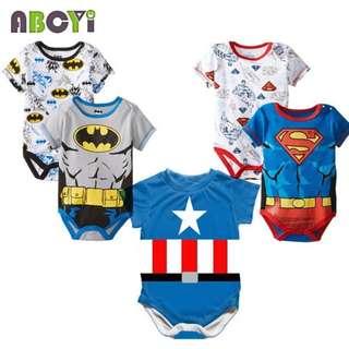 Baby Superhero romper 3 to 24 mths
