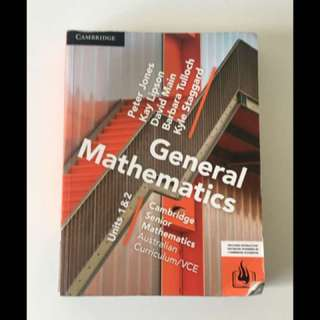 General mathematics unit 1 & 2