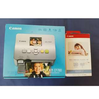 Canon Selphy CP 780 + Color Ink / Paper Set' (unused; still in box)