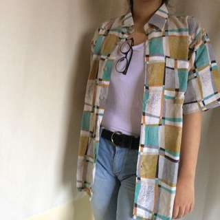 oversized abstract shirt