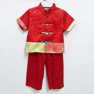 CNY Traditional Boy Set (Red)