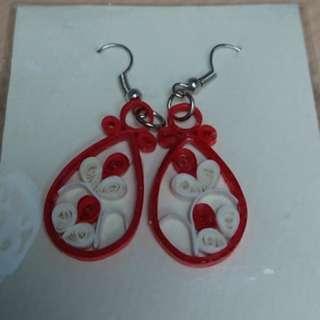 Paper art earrings