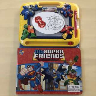 BN 💪🏻DC SUPER FRIENDS💪🏻 Heroes Story Book/ Storybook C/W Magnetic Drawing Board/ Kit/ Pad & Pen (Children/ Kids)