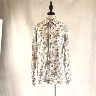 (MEN) Zara floral printed shirt *COMPANY SAMPLE
