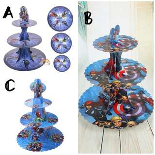 💥Avengers party supplies - dessert cupcake stand/ candy bar deco/ party deco