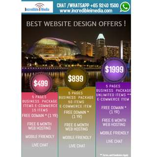 Unbeatable Promotion - Unlimited items @ $1999** with Business Website