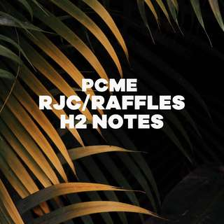 Raffles H2 Notes ( PCME )