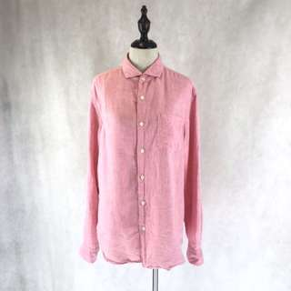 Pink Linen Shirt * COMPANY SAMPLE
