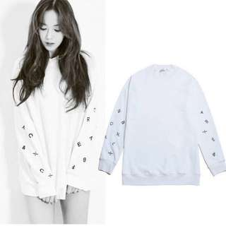 🔥 [INSTOCK] Korean Jessica Jung BLANC & ECLARE White Cotton Ulzzang Sweater Top Pullover