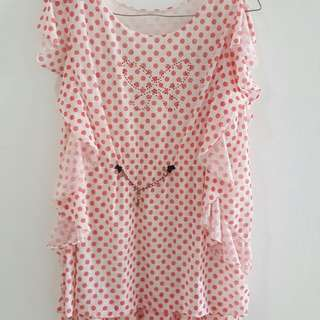 Blouse Unyu Pink Fit To L