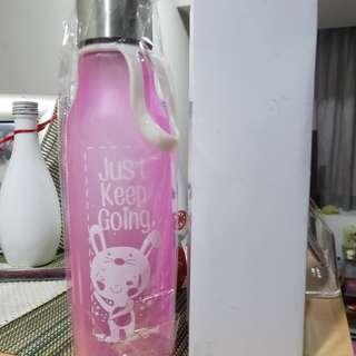 Kids School Plastic Water Bottle-pink