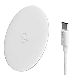 •BN• Usams Ultra-Thin/Plated Wireless Fast Pad White