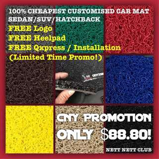 *PRE CNY PROMO!* - All Designs Customised Car Mat