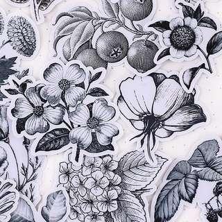 ⏰ Planner Stickers — Antique / Pen Art / Drawings / Flowers