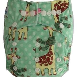 Clodi Popok Kain Bayi Babyland Snap Microfiber Cloth Diaper - Giraffe
