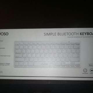 Ideal for ipad and Tablet YOYOSO Simple Bluetooth Keyboard